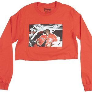 Notorious B.I.G. Long Sleeve Graphic Crop Top, S